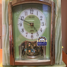 SEIKOオニキス枠置き時計