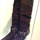 ロングブーツ 黒 L
