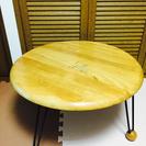 終了 丸い 折りたたみテーブル