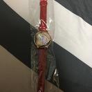 お買い得しかもお値下げ☆新品未使用!赤ベルトのハート腕時計♡