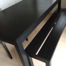 IKEA ダイニングテーブル、ベンチイス、椅子一脚セット