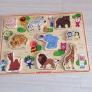 【取引完了】アンパンマンかたはめ木製動物パズル