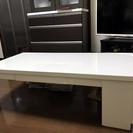 【再出品】 ローテーブル エナメル塗装 収納可能タイプ