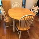 ファミリー向けダイニングテーブル&椅子4脚セット譲ります