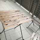 ウッドテーブル(椅子付き)