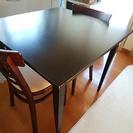 テーブルセット テーブル1 イス2 テーブルは脚が取れます