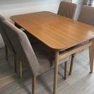「交渉中」ダイニングテーブル&チェア(椅子)4脚セット