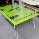 折りたたみ可能 ガラス面なローテーブル