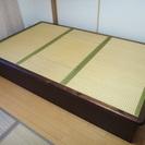 畳ベッド セミダブル 下部収納 L200xW120xH33