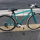クロスバイク つや消しグリーン