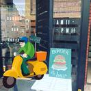 ハンバーガーのデリバリースタッフ募集