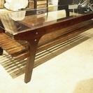リビング テーブル ローテーブル ソファ用 お洒落な木製 ガラス ...