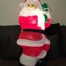 クリスマス 光るぶら下がりサンタクロース 縦76㎝
