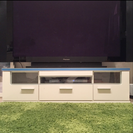 テレビ台 ロータイプ 白