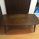 木目調ローテーブル 折り畳み式