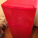 【かわいい】2ドア冷蔵庫 赤 板橋区