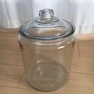 ガラス 米びつ 蓋つき 容器
