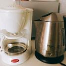 【値下げ可】コーヒーメーカー と 電気ケトル ティファール
