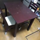 ニトリ 伸長式 ダイニングテーブルセット
