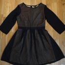 北欧で買ったH&M 黒&ゴールド水玉のドレス