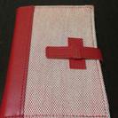 手帳カバー赤&白