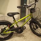 ♪ 子供用自転車16インチ DUALLY スタンド付 グリ-ンイエ...