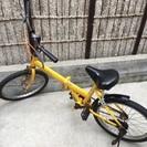 早い者勝ち♡黄色20インチ・折りたたみ自転車♡