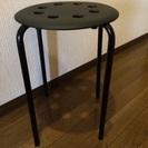 IKEA スツール 黒 2脚