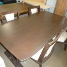 ニトリ ダイニングテーブル 4人椅子付
