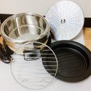 ★ひとり電気鍋★鍋、焼肉プレート、蒸し器