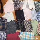 ネルシャツ、メンズシャツ いっぱい。