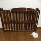 美品★不二貿易 木製ベビーベッド ブラウン 120×70×83cm