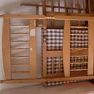 木製二段ベッドを差し上げます