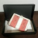 コーチシグネチャー柄 がま口 二つ折り財布