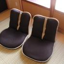 ブラウン座椅子2個セット!メッシュ素材