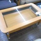 札幌 引き取り ニトリ センターテーブル ガラス 引き出し付き