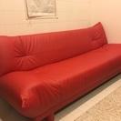 【無料で譲ります】3人掛けソファ ソファベッド  大塚家具