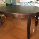 IKEA  進展式ダイニングテーブル 115〜166cm