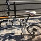 【お取引中】自転車 フェラーリ 20インチ 折り畳み 白