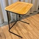 【取引終了】無印良品 サイドテーブル+タモ材トレー