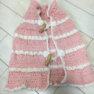 手編みのベビーケープ ハンドメイド