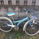 子供用変速機付きの自転車(水色)