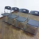 折りたたみ椅子 パイプイス 軽量 グレイ 中央可鍛工業