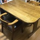 食卓テーブル&イス二脚