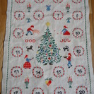 北欧蚤の市で買ったクリスマスアドベントカレンダーのタペストリー(大)