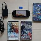 ★おまけ多数★ PSP3000 ソフト3本、メモリースティックデュ...