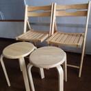 折り畳み椅子&丸椅子