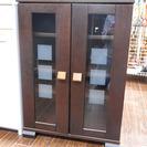 札幌 引き取り 小型 食器棚 小さめ レンジ台 ガラス扉