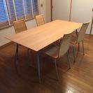 driadeのテーブルと椅子4脚