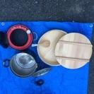 圧力鍋、すし桶(新品)、シチュー鍋